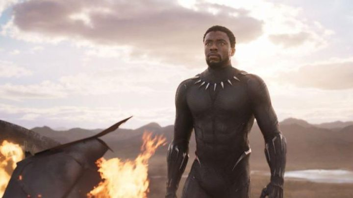 Combination of combat black T Challa / Black Panther (Chadwick Boseman) in a Black Panther Movie