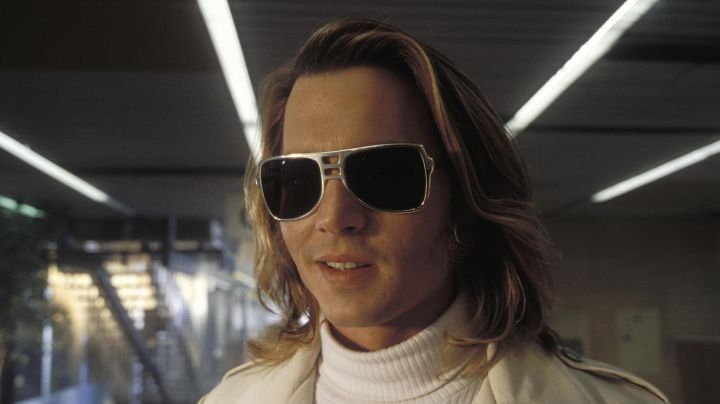 """Cool-Ray """"Fast Back 420 Silver"""" sunglasses worn by George Jung (Johnny Depp) as seen in Blow"""