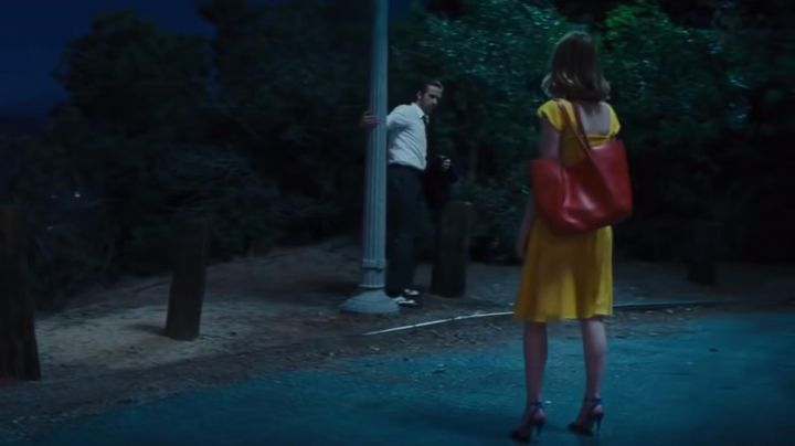 Court shoes Kurt Geiger of Mia (Emma Stone) in the The Land movie
