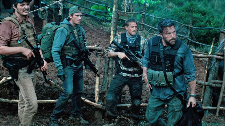 Crye Precision Tactical Pants worn by William 'Ironhead' Miller (Charlie Hunnam) as seen in Triple Frontier Movie
