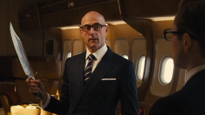 Cutler And Gross Eyeglasses by Mr Porter worn by Merlin (Mark Strong) in Kingmsan: The Golden Circle