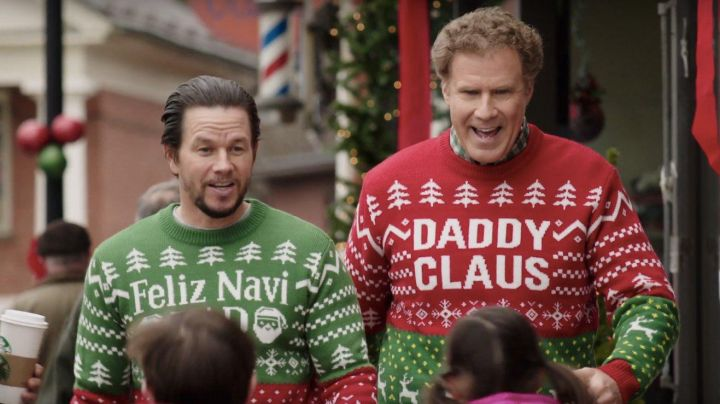 Fashion Trends 2021: 'Daddy Claus' Christmas Jumper worn by Brad Whitaker (Will Ferrell) as seen in Daddy's Home 2