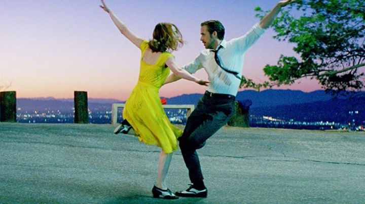 Dance shoes of Sebastian (Ryan Gosling) in the The Land movie