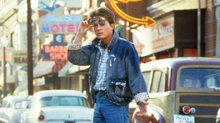 Denim Jacket worn by Marty McFly (Michael J. Fox) as seen in Back to the Future - Movie Outfits and Products