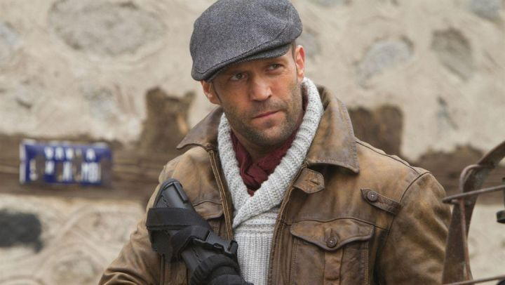 Distressed Leather Jacket worn by Jason Statham as seen in The Expendables 2 Movie