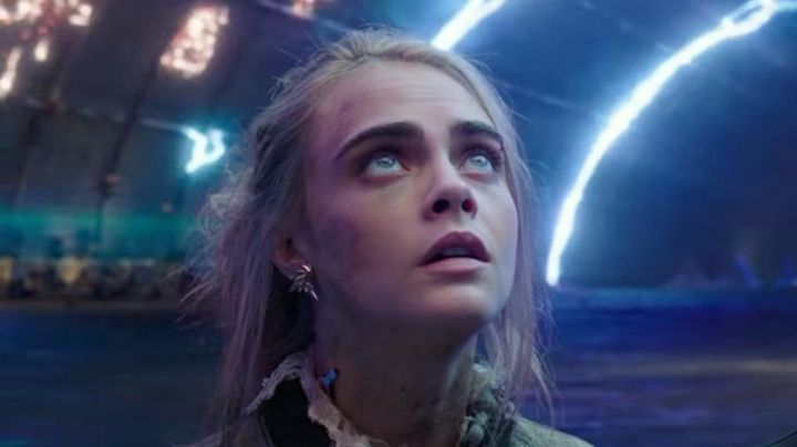 Earrings gold worn by Laureline (Cara Delevingne) in Valérian and the City of ten thousand planets