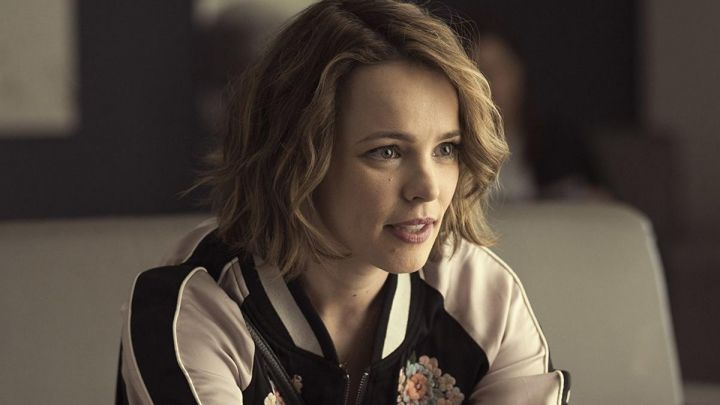 Embroidered Floral Bomber Jacket worn by Annie (Rachel McAdams) as seen in Game Night - Movie Outfits and Products