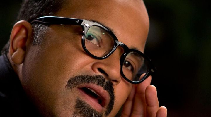 Eyeglasses round Moscot of Beetee Latier (Jeffrey Wright) in Hunger Games : The kindling - Movie Outfits and Products