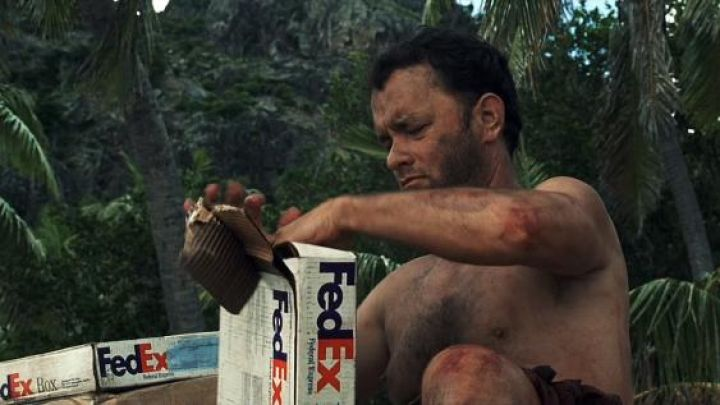 FedEx pack used by Chuck Noland (Tom Hanks) as seen in Cast Away Movie