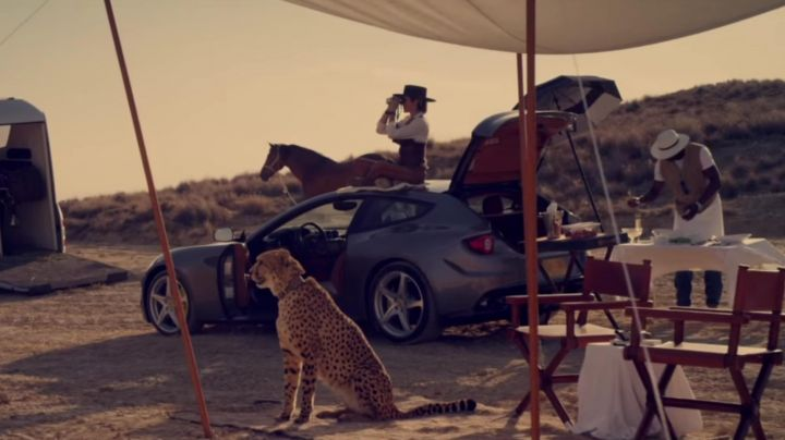 Ferrari FF Sports driven by Malkina (Cameron Diaz) as seen in The Counselor - Movie Outfits and Products