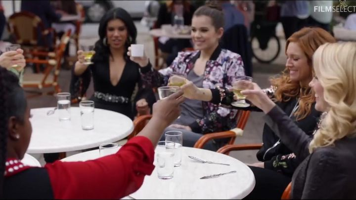 Flo's (Chrissie Fit) Mustard Seed Lace Bell Sleeves Mini Cocktail Dress as seen in Pitch Perfect 3 Movie