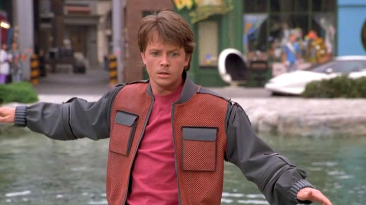 Fashion Trends 2021: Futuristic jacket of Marty McFly (Michael J. Fox) as seen on Back to the Future Part II