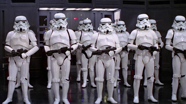 Gloves black Stormtrooper in Star Wars IV : A new hope - Movie Outfits and Products