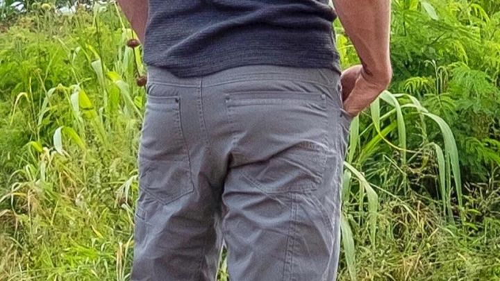 Gray Pants worn by Charlie Hunnam on the set of Triple Frontier Movie