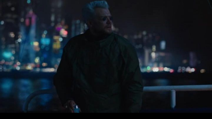 Fashion Trends 2021: Green Tactical Poncho worn by Batou (Pilou Asbæk) as seen in Ghost in The Shell