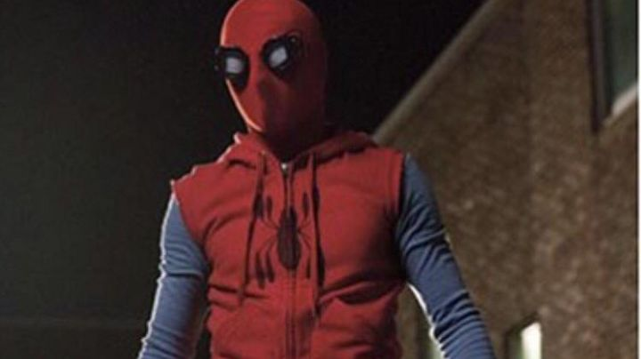 Homemade Suit Red Hoodie worn by Peter Parker (Tom Holland) as seen in Spider-Man: Homecoming