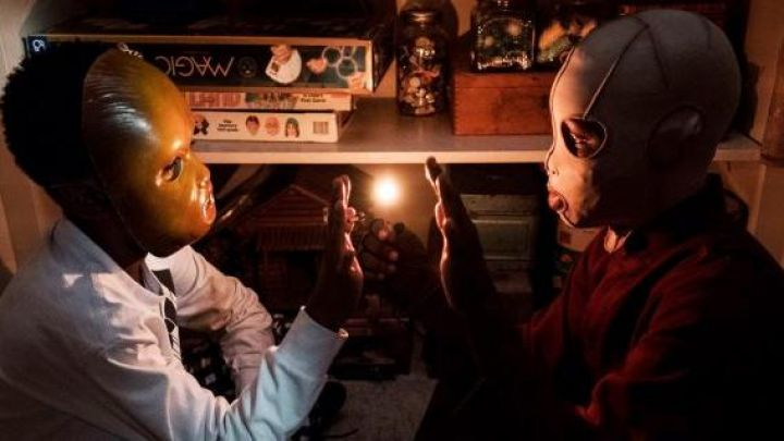 Horror Mask worn by Jason Wilson / Pluto (Evan Alex) as seen in Us - Movie Outfits and Products