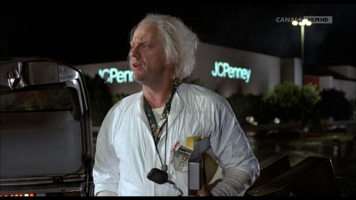 JCPenney of Dr. Emmett Brown (Christopher Lloyd) in Back to the Future Movie