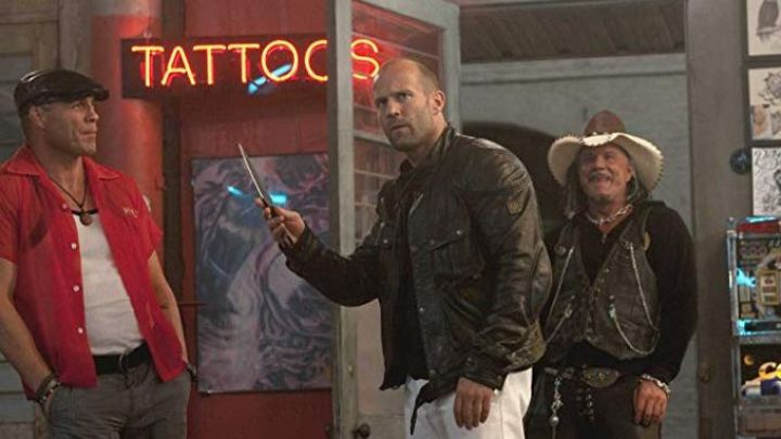 Jacket Belstaff Pegaso worn by Lee Christmas (Jason Statham) in the Expendables : special Unit Movie