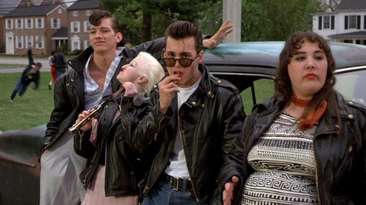 Jacket biker Schott Wade Walker (Johnny Depp) in Cry Baby - Movie Outfits and Products