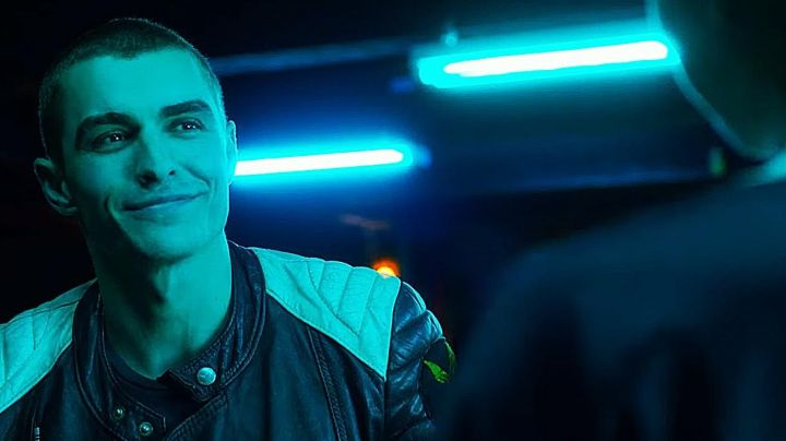 Jacket black motorcycle of Dave Franco in Nerve - Movie Outfits and Products