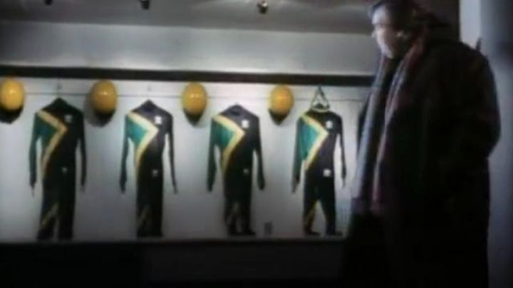 Jamaican Bobsleigh suits as seen in Rasta Rockett movie
