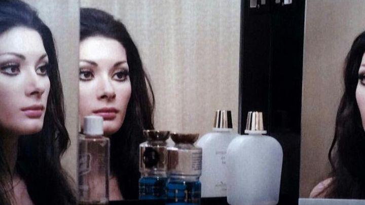 Jane's (Edwige Fenech) Guerlain cleansing oil in All The Colors Of The Dark - Movie Outfits and Products