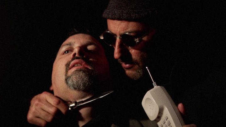 Junior Gaultier Sunglasses worn by Leon (Jean Reno) as seen in Leon the professional