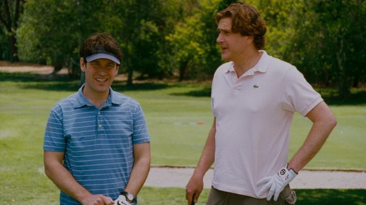 Lacoste polo light pink Sydney Fife (Jason Segel) in I love you, Man - Movie Outfits and Products