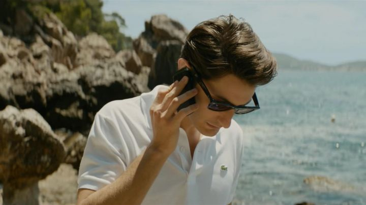 Lacoste polo white Mathieu Vasseur (Pierre Niney) in An Ideal Man - Movie Outfits and Products