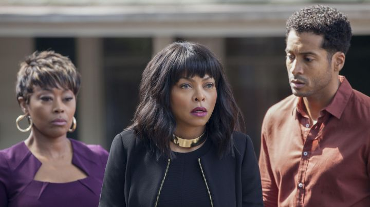 Large Gold Choker Necklace worn by Melinda (Taraji P. Henson) as seen in Acrimony - Movie Outfits and Products
