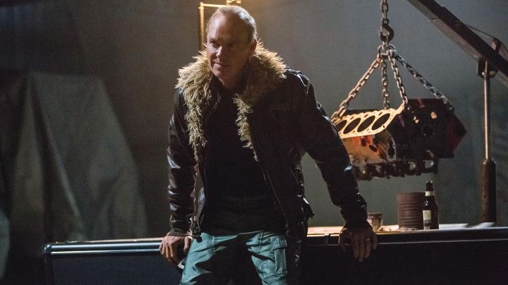 Fashion Trends 2021: Leather Jacket worn by Adrian Toomes /Vulture (Michael Keaton) as seen in Spider-Man: Homecoming