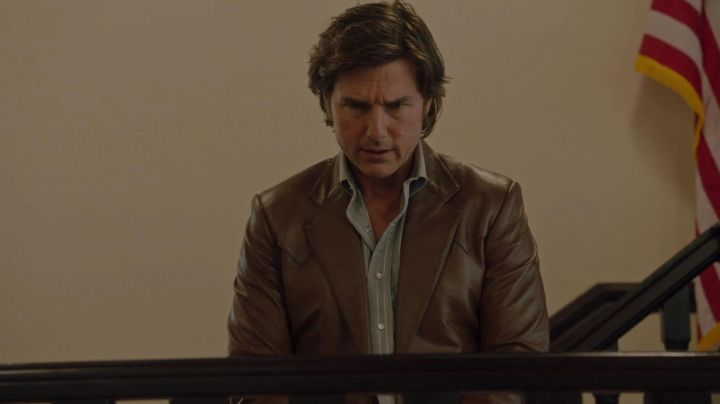Leather Jacket worn by Barry Seal (Tom Cruise) as seen in Barry Seal: American Traffic