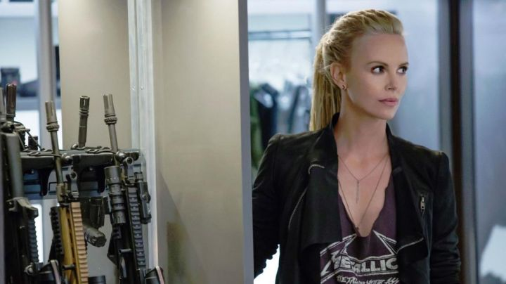 Leather Jacket worn by Cipher (Charlize Theron) as seen in The Fate and The Furious - Movie Outfits and Products