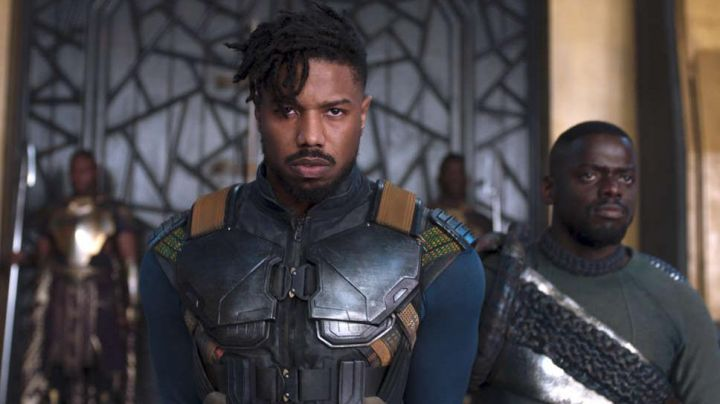 Leather Vest Jacket worn by Erik Killmonger (Michael B. Jordan) as seen in Black Panther - Movie Outfits and Products