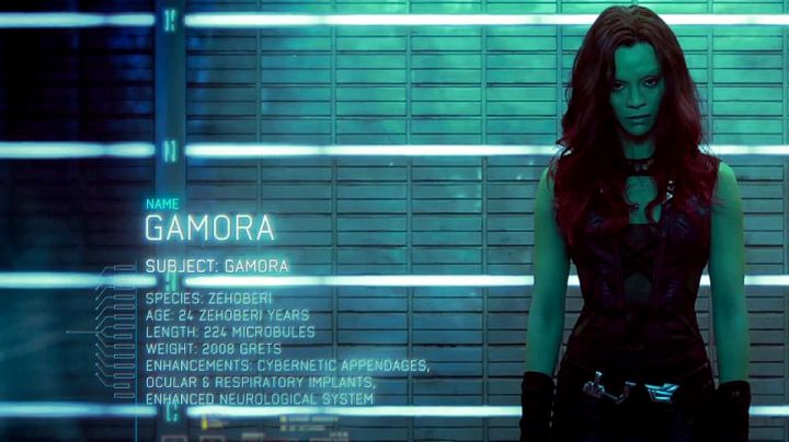 Leather Vest worn by Gamora (Zoey Saldana) as seen in Guardians of the Galaxy vol.1 - Movie Outfits and Products
