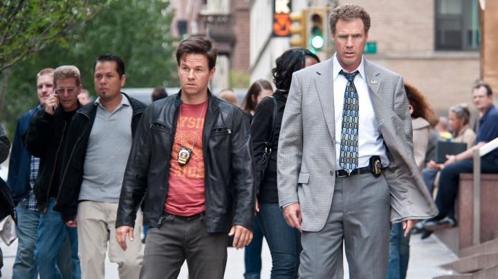 Leather jacket worn by Terry Hoitz (Mark Wahlberg) as seen in The Other Guys