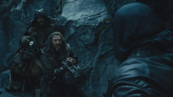 Leather protections worn by Fili (Dean O'Gorman) in The Hobbit Movie