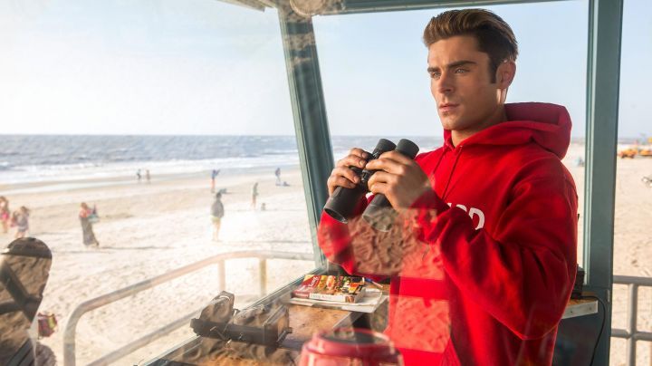 Lifeguard Red Hoodie worn by Matt Brody (Zac Efron) as seen in Baywatch - Movie Outfits and Products