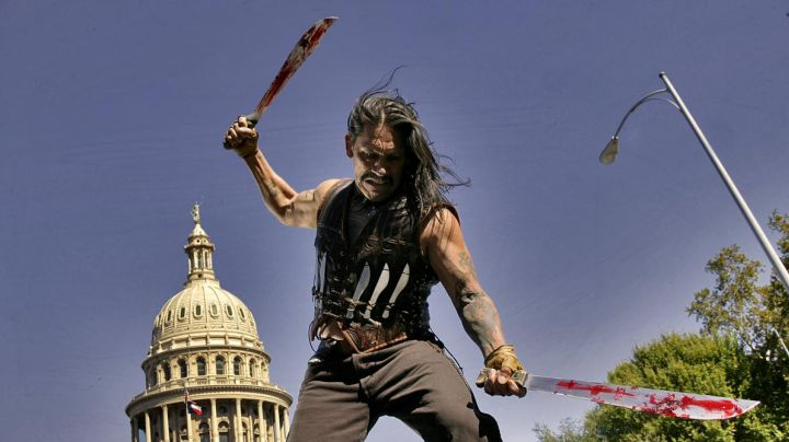 Machete of Machete Cortez (Danny Trejo) in Machete - Movie Outfits and Products