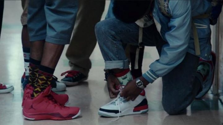 Malcolm is a pair of Jordan 3 - Movie Outfits and Products