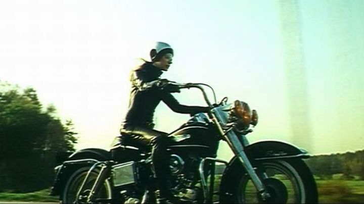 Marianne Faithfull's 1967 Harley-Davidson Electra Glide bike in The Motorcycle - Movie Outfits and Products