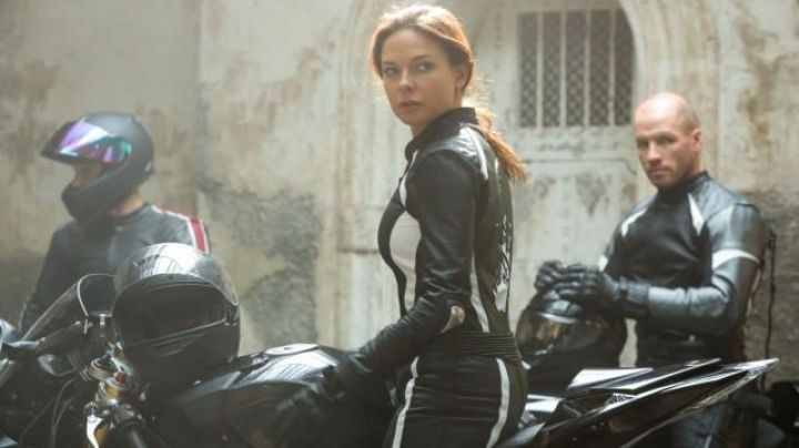 Motorcycle Jacket worn by Ilsa Faust (Rebecca Ferguson) as seen in Mission: Impossible - Rogue Nation Movie