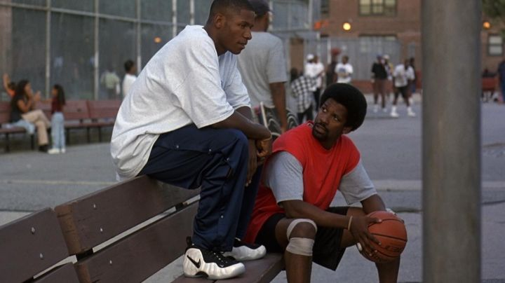 """Nike Air Foamposite Pro """"Class of 97"""" sneakers worn by Jesus Shuttlesworth (Ray Allen) as seen in He Got Game - Movie Outfits and Products"""