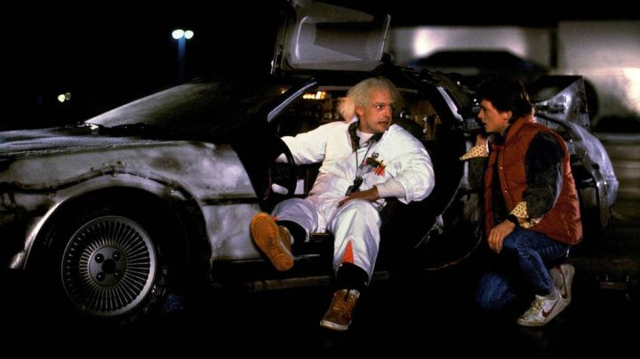 Nike Vandal High Supreme 'Bright Ceramic' worn by Doc Brown (Christopher Lloyd) as seen in Back to the future - Movie Outfits and Products