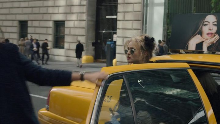 Oliver Peoples transparent sunglasses worn by Rose (Helena Bonham Carter) as seen on the set of Ocean's 8 Movie