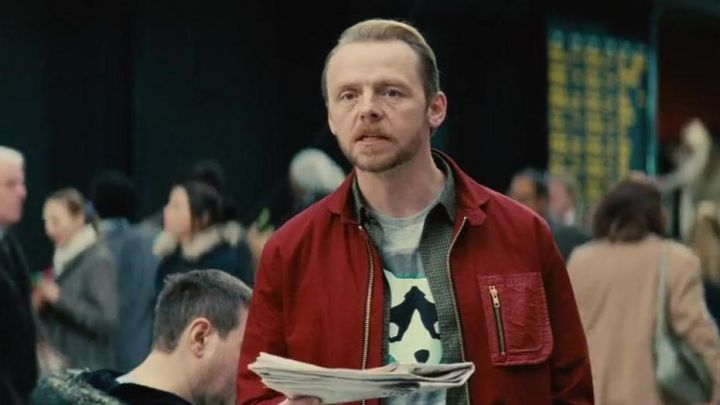 Oliver Spencer red Jacket worn by Benji Dunn (Simon Pegg) as seen in Mission: Impossible - Rogue Nation Movie