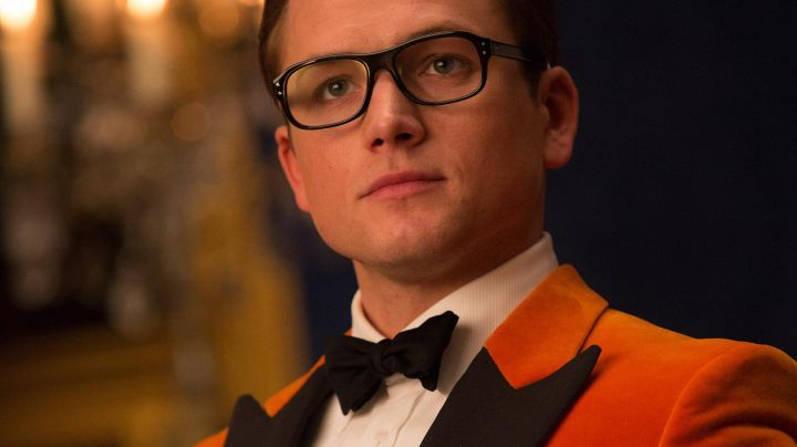Orange Tukedo vest worn by Eggsy (Taron Egerton) in Kingmsan: The Golden Circle - Movie Outfits and Products