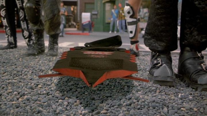 """Original """"Pit Bull"""" Hoverboard used by Biff Tannen (Thomas F. Wilson) in Back to The Future Part II - Movie Outfits and Products"""