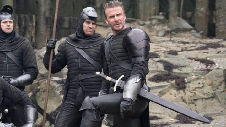 Padded top David Beckham in The King Arthur: The Legend of Excalibur - Movie Outfits and Products